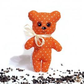 Pohánkový medvedík oranžový puntík malý