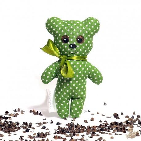 Pohánkový medvedík zelený puntík malý
