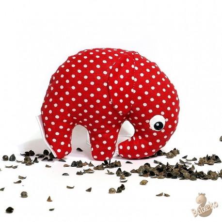 Pohankový sloník červený puntík malý