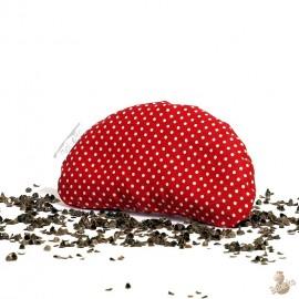 Pohanková podložka pod zápěstí červená