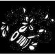 Pohankový polštář kočka zelený květ