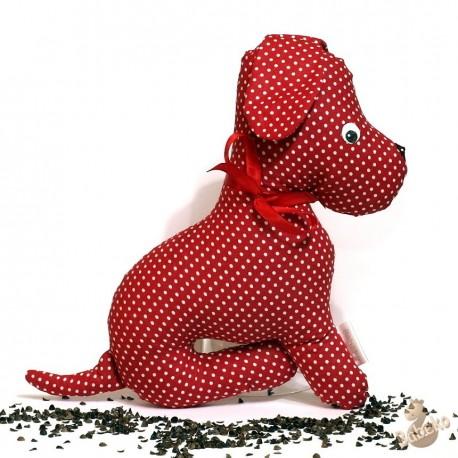Pohánkový psík červený puntík