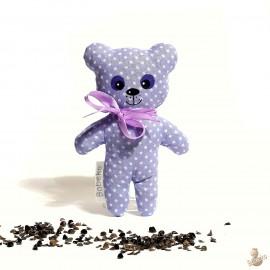 Pohánkový medvedík fialový puntík malý
