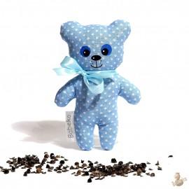 Pohánkový medvedík modrý puntík malý