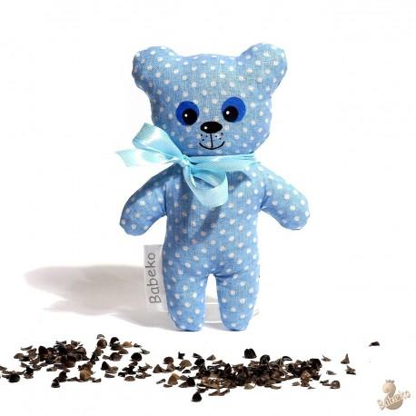 Pohánkový medvedík modrý malý