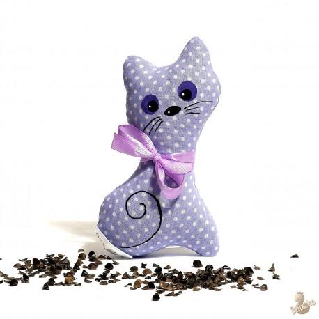 Pohanková kočička fialový puntík malá