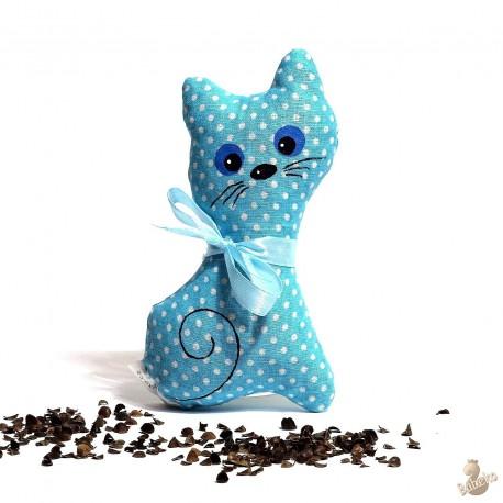 Pohánková mačička tyrkysový puntík malá