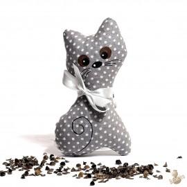 Pohánková mačička šedý puntík malá