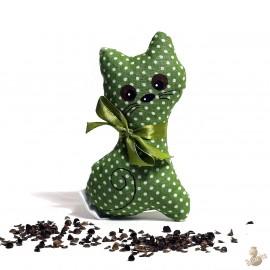 Pohanková kočička zelený puntík malá