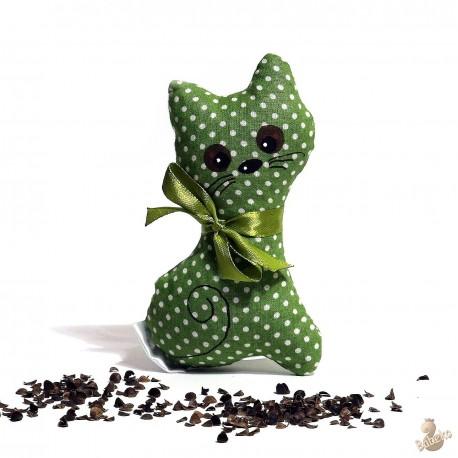 Pohánková mačička zelený puntík malá