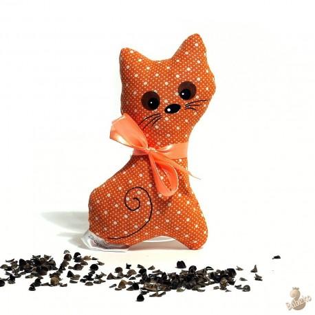 Pohanková kočička oranžový puntík malá