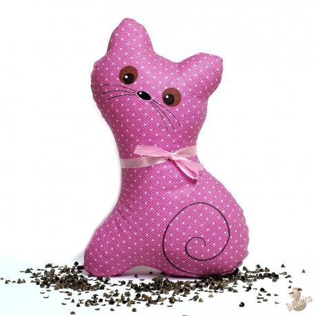 Pohánková kočička malinový puntík