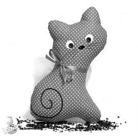 Pohanková kočička šedý puntík