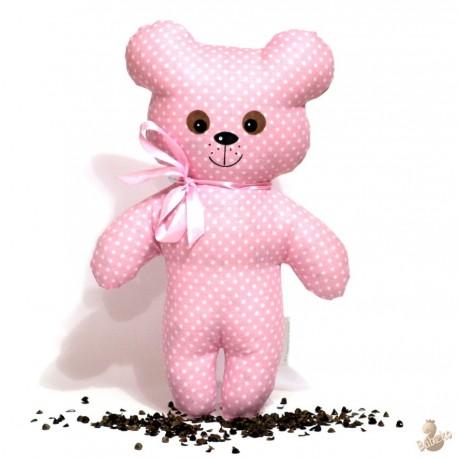 Pohankový medvídek růžový puntík