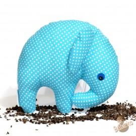 Pohankový sloník tyrkysový puntík