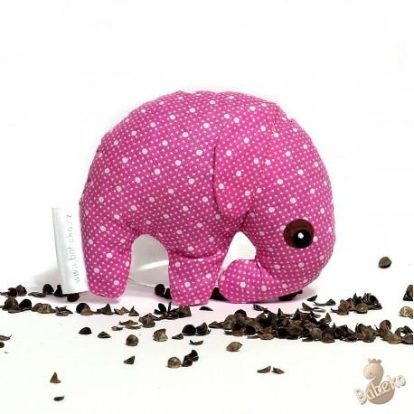 Pohankový sloník růžový puntík malý