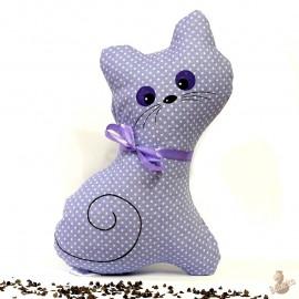 Pohanková kočička fialový puntík