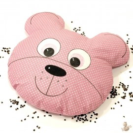 Pohánkový vankúš medveď ružový puntík