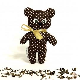 Pohánkový medvedík hnědý puntík malý