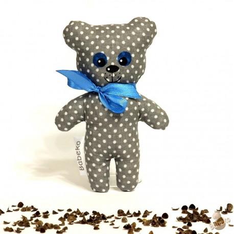 Pohánkový medvedík šedý puntík malý