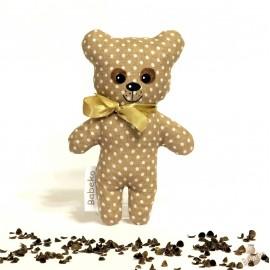 Pohankový medvídek béžový puntík malý