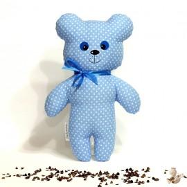 Pohánkový medvedík modrý puntík