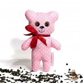 Pohankový medvídek růžový puntík malý