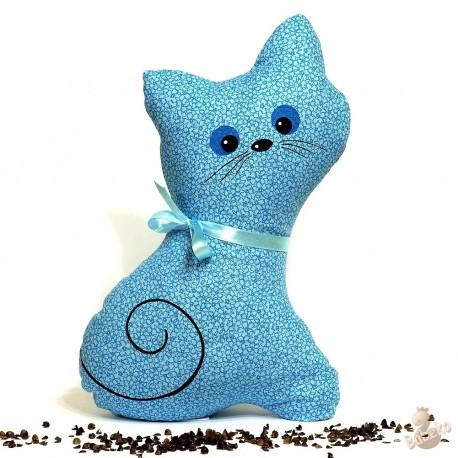 Pohánková mačička tyrkysový kvet