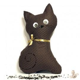 Pohankový polštář kočka hnědý puntík