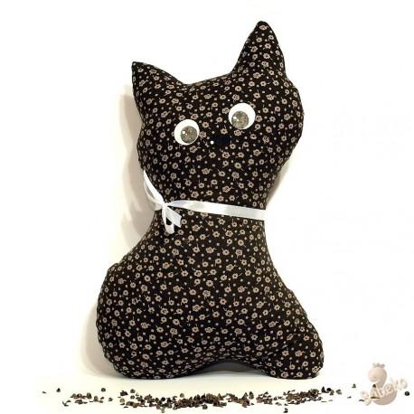 Pohankový polštář kočka hnědý květ
