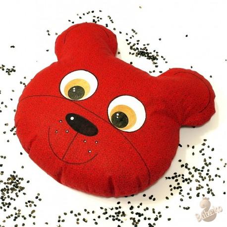 Pohánkový vankúš medveď červený kvet
