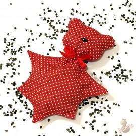 Pohankový usínáček medvídek červený puntík