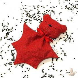 Pohankový usínáček medvídek červený květ