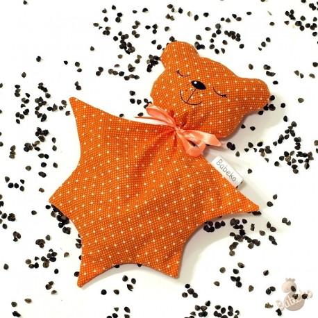 Pohankový usínáček medvídek oranžový puntík