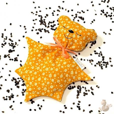 Pohánkový usínáček medvedík oranžový kvet