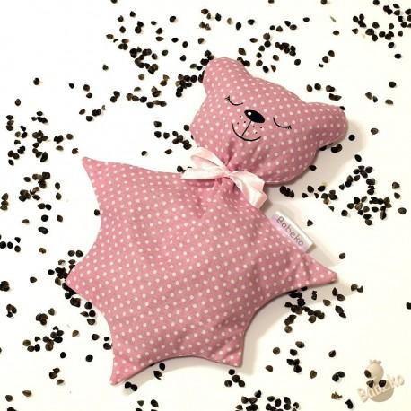 Pohánkový usínáček medvedík ružový puntík