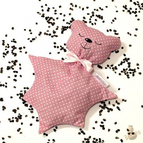 Pohankový usínáček medvídek růžový puntík