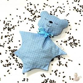 Pohánkový usínáček medvedík modrý puntík