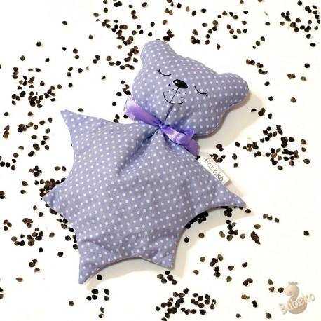 Pohankový usínáček medvídek fialový puntík