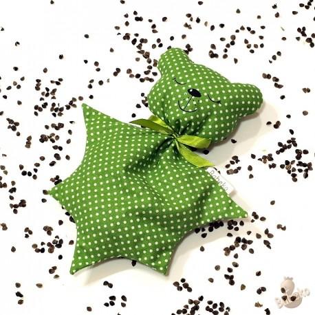 Pohánkový usínáček medvedík zelený puntík
