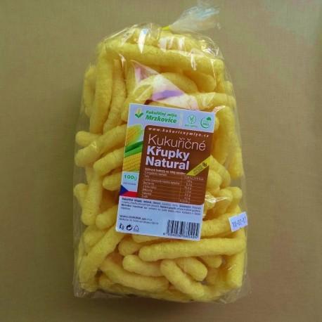 Kukuřičné křupky dlouhé natural 100 g