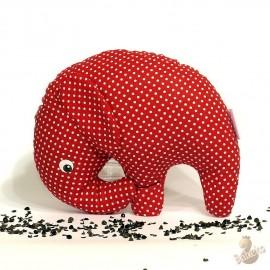 Pohánkový sloník červený puntík