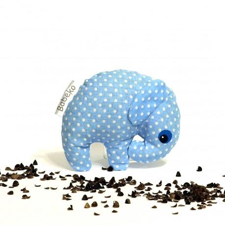 Pohankový sloník modrý puntík malý