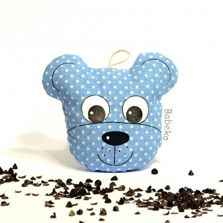 Pohánkový prívesok medvedík modrý