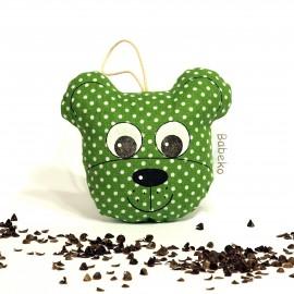 Pohankový přívěšek míša zelený
