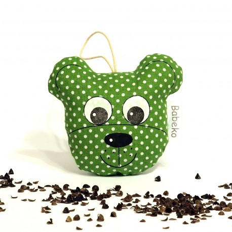 Pohánkový prívesok medvedík zelený