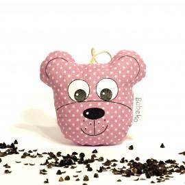 Pohánkový prívesok medvedík ružový
