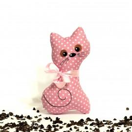 Pohanková kočička růžový puntík malá