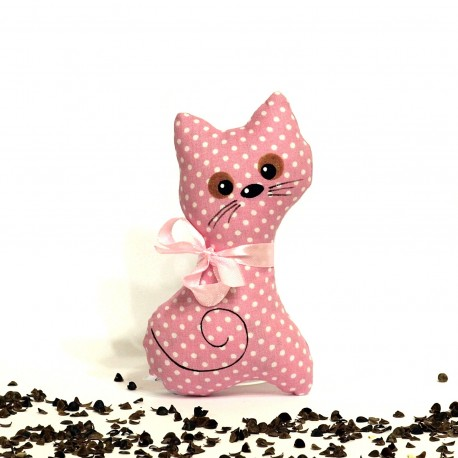 Pohánková mačička ružový puntík