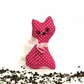 Pohanková kočička malinový puntík malá